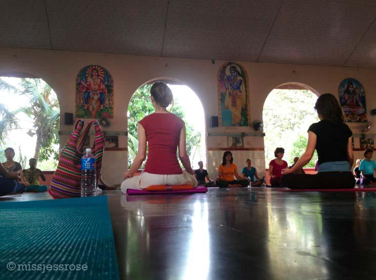 Pre-yoga meditation