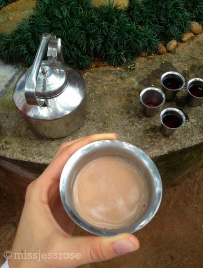 Morning chai tea break