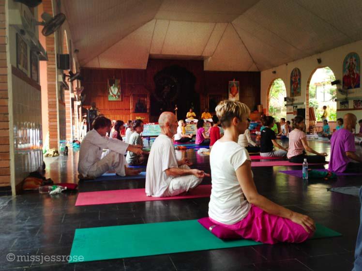 Finishing afternoon yoga