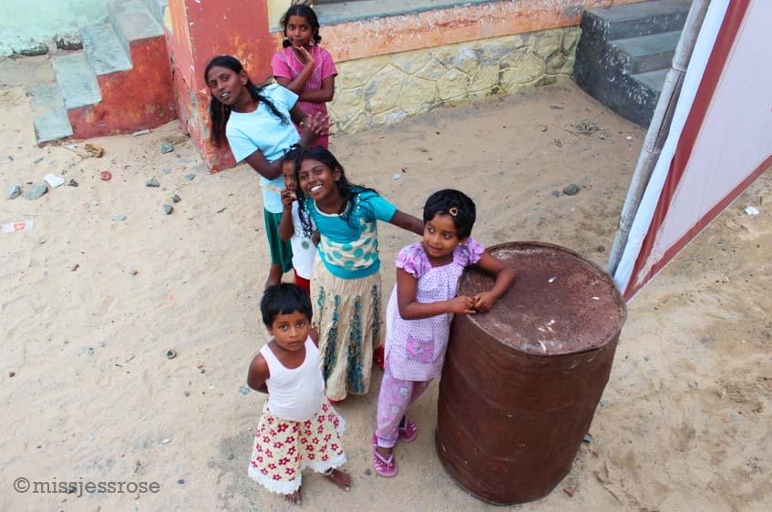 Girls asking for school pens