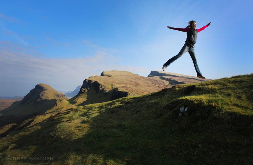 ExploringThe Quiraing on the Isle of Skye, Scotland