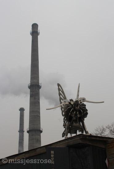 Smokestacks amoungst the art galleries