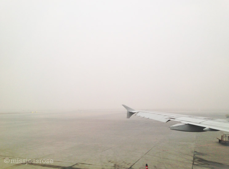 Yes, this is the air in Xi'an. Note that there is no precipitation, just polluted haze