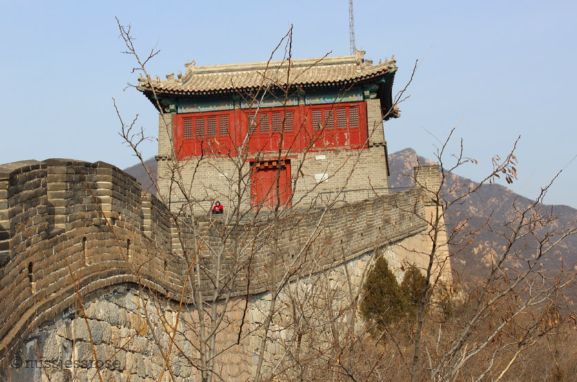 One of many restored watch towers along the Great Wall