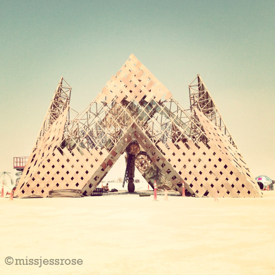 The Russians built this awesome pyramid with Sputnik inside