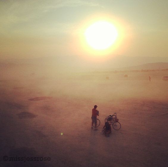Tatooine or Black Rock Desert? Afternoon dust storm rolling in on Saturday before the burn officially starts