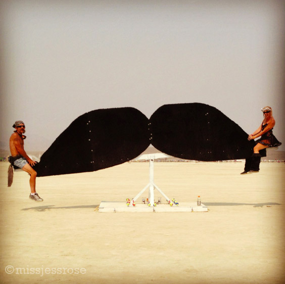 Mustache totter