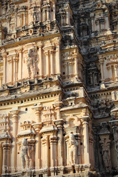Famous carvings adorn the temple exterior