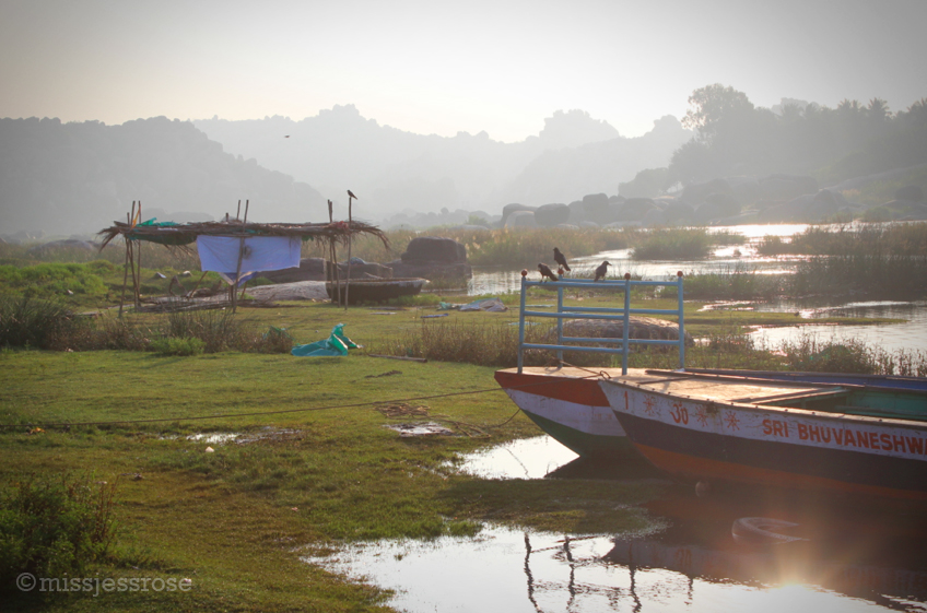 Every morning we take the first boat across the river to watch Lakshmi bathe