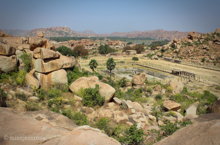 The footprint of the ruins in Hampi reminds me of ancient Rome