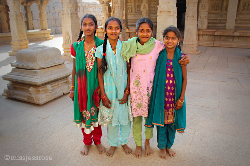 Part of a school group touring the temple, these girls eagerly asked me to take a photo of them with my camera