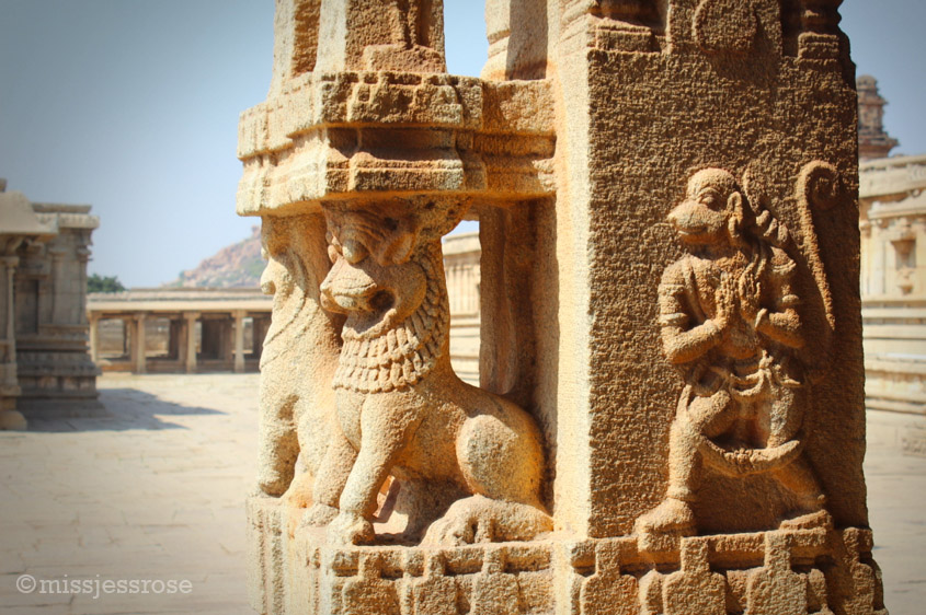 Each carving tells a story of Hindu mythology