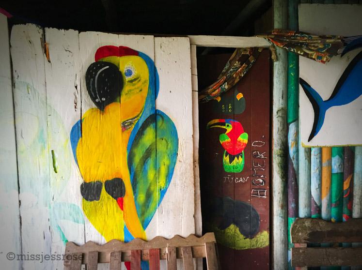 Murals in a home, Cuninico