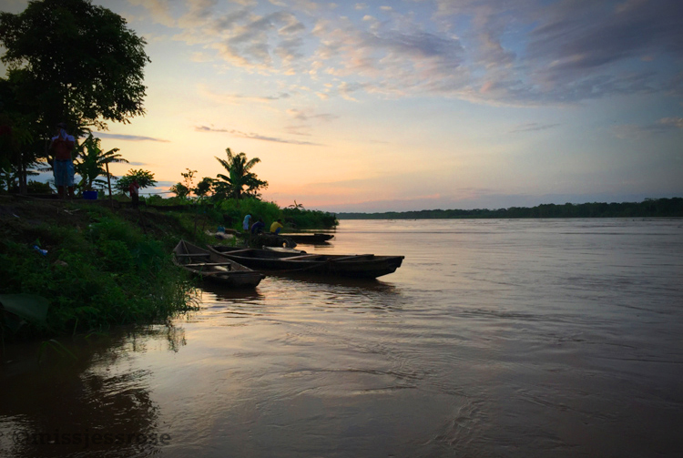 Dawn on the Marañon River, Northern Peruvian Amazon