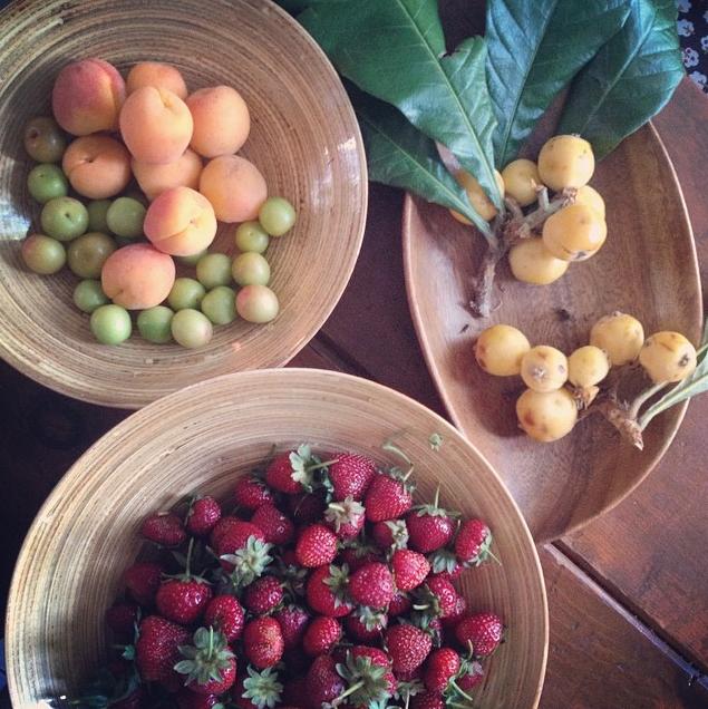 Fresh market fruits at home