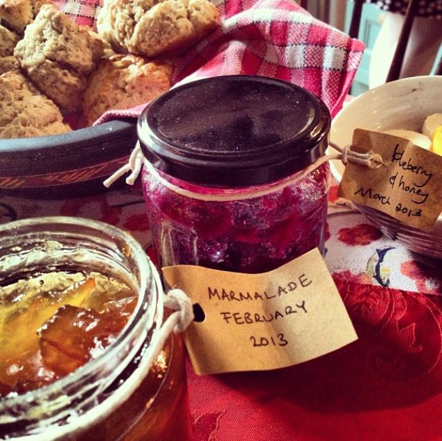 Homemade jam and scones, Scotland