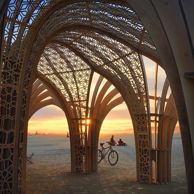 Sunrise on playa, 2015.