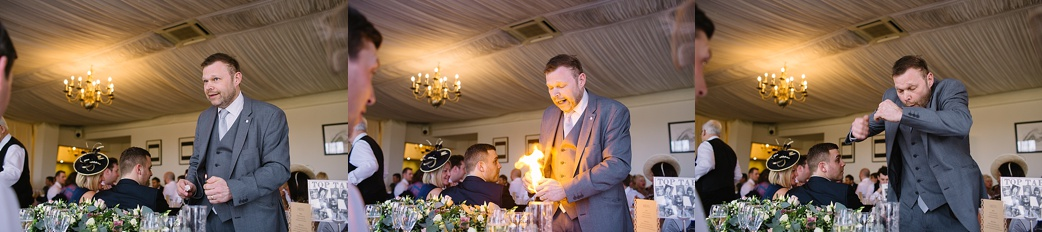 Magic at a warwick house wedding