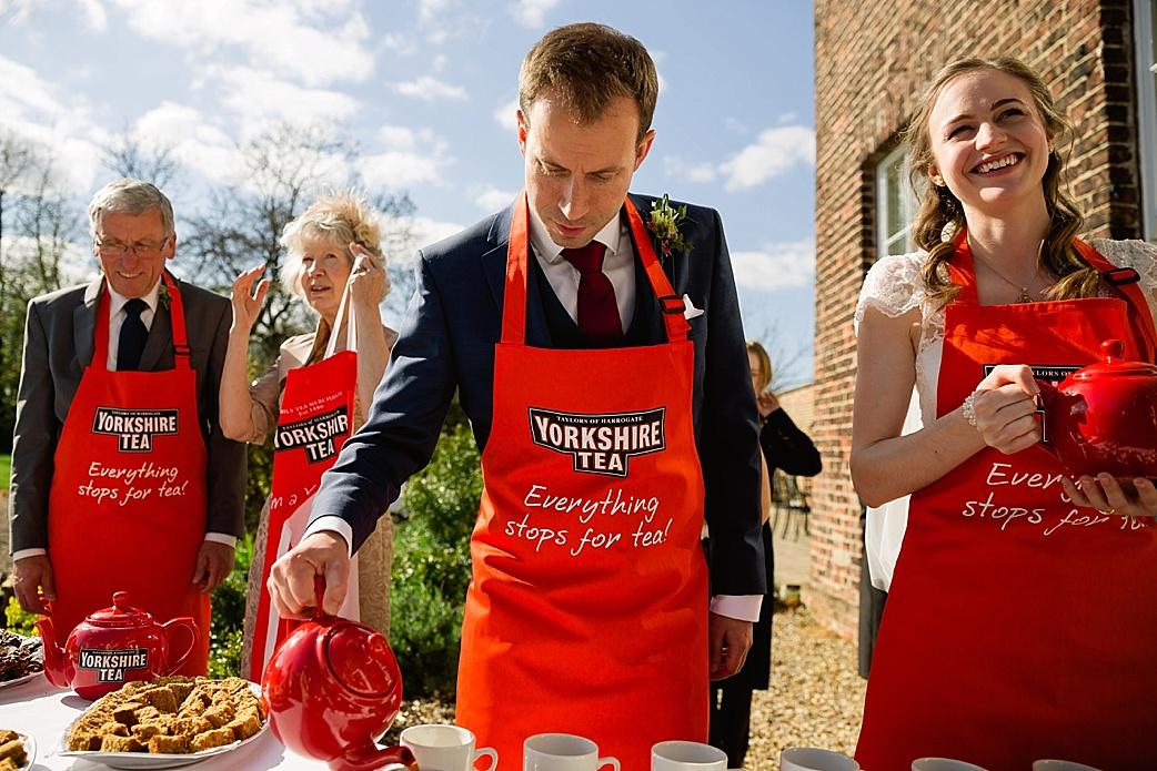 Hornington Manor Yorkshire tea wedding
