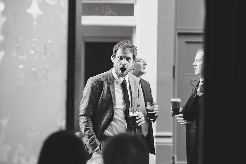 shocked dad at wedding