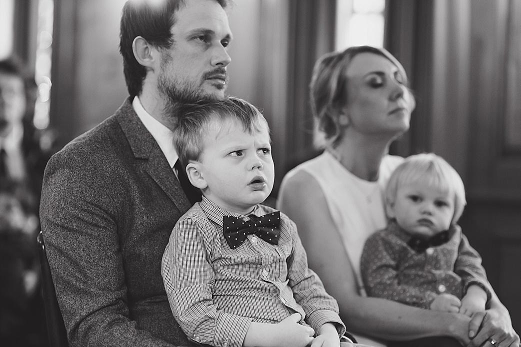 confused wedding kid
