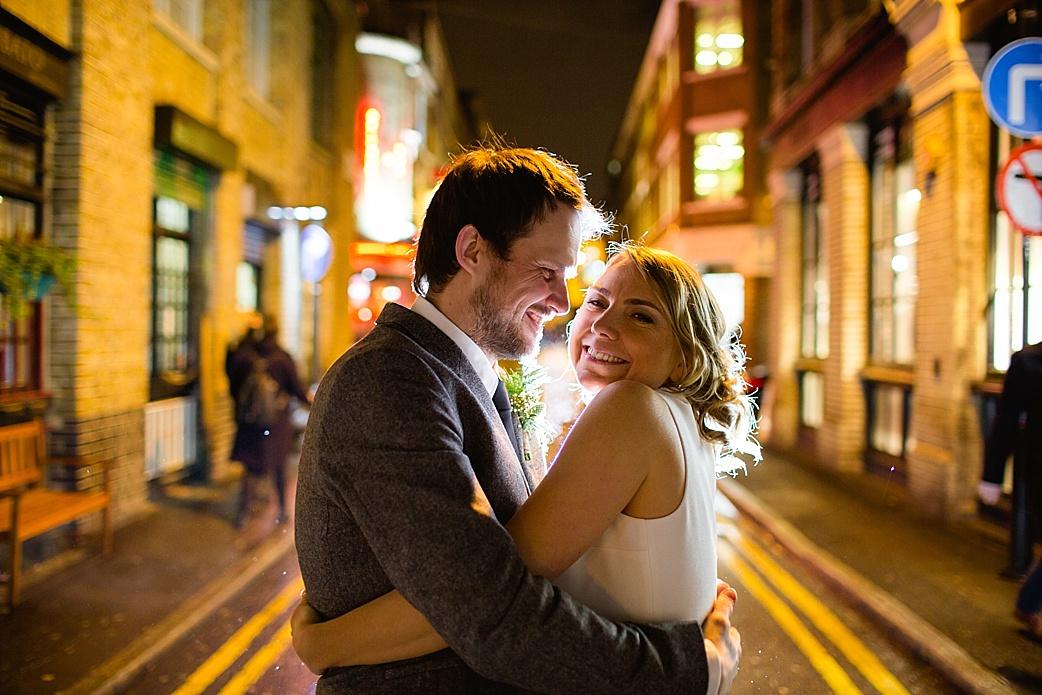 London by night wedding