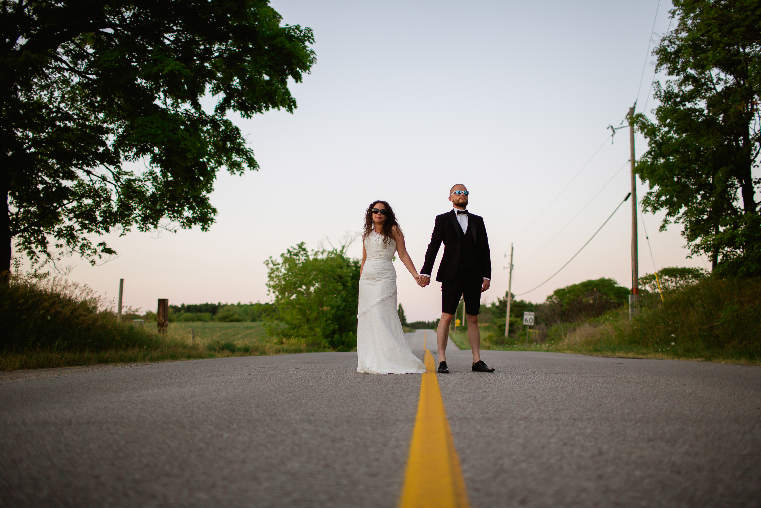 Canadian wedding - alternative wedding - married in shorts