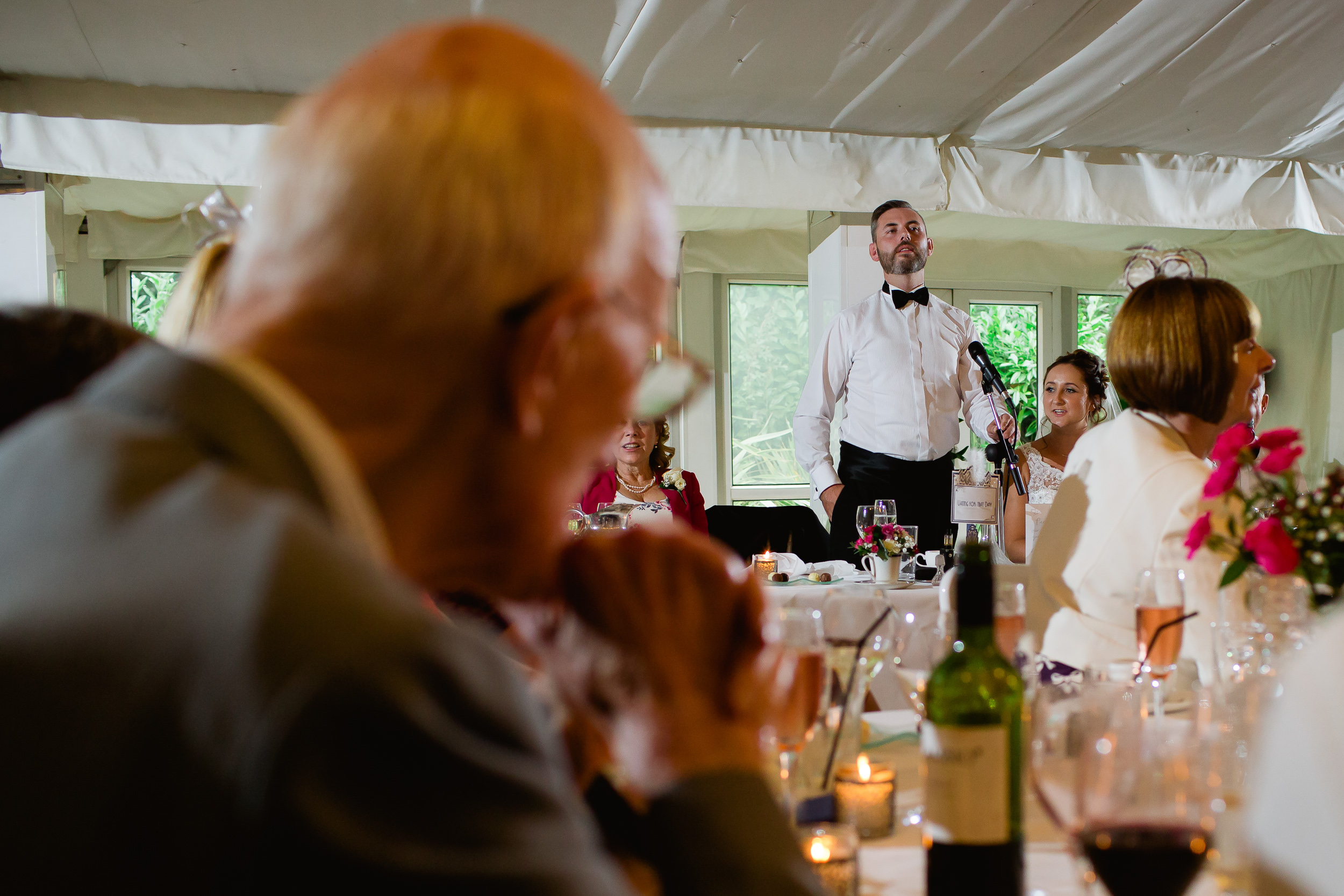 Moxhull Hall wedding - speeches at Moxhull hall - west midlands wedding