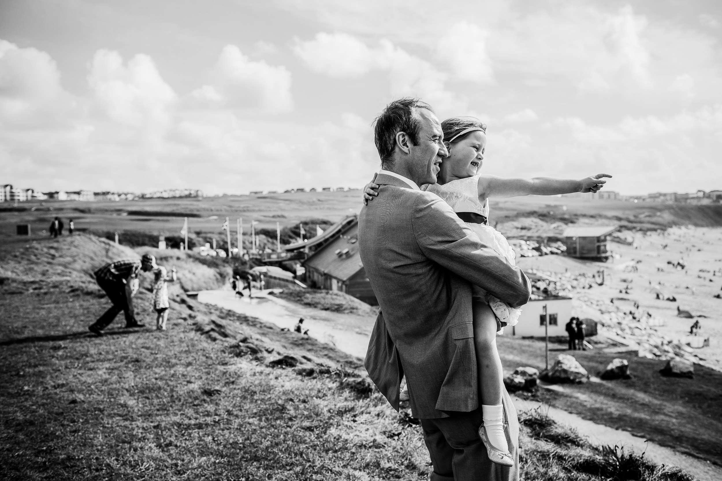 Headlands wedding photography - Newquay wedding photography - beach wedding