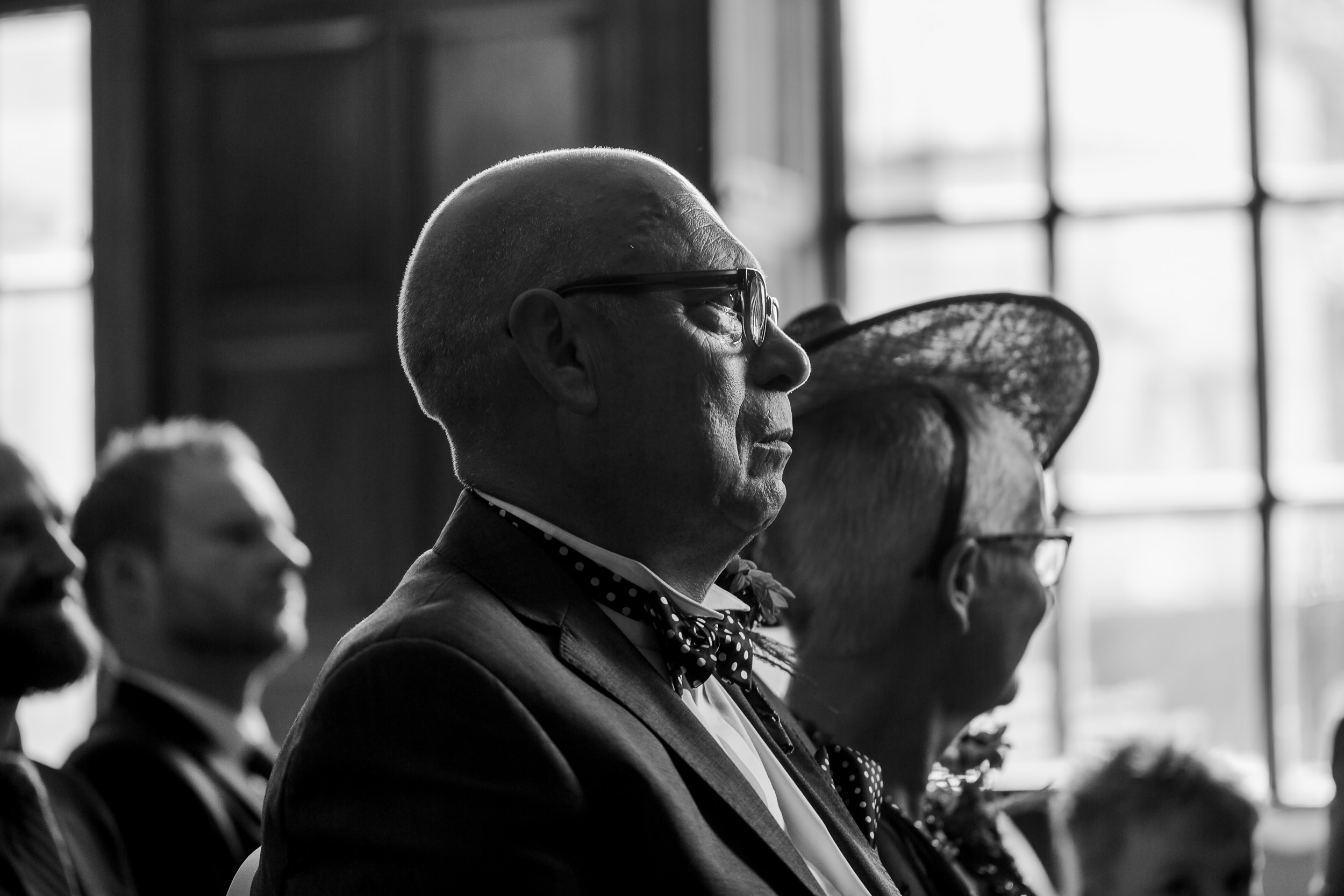 father of the bride crying - emotional dad - yorkshire wedding