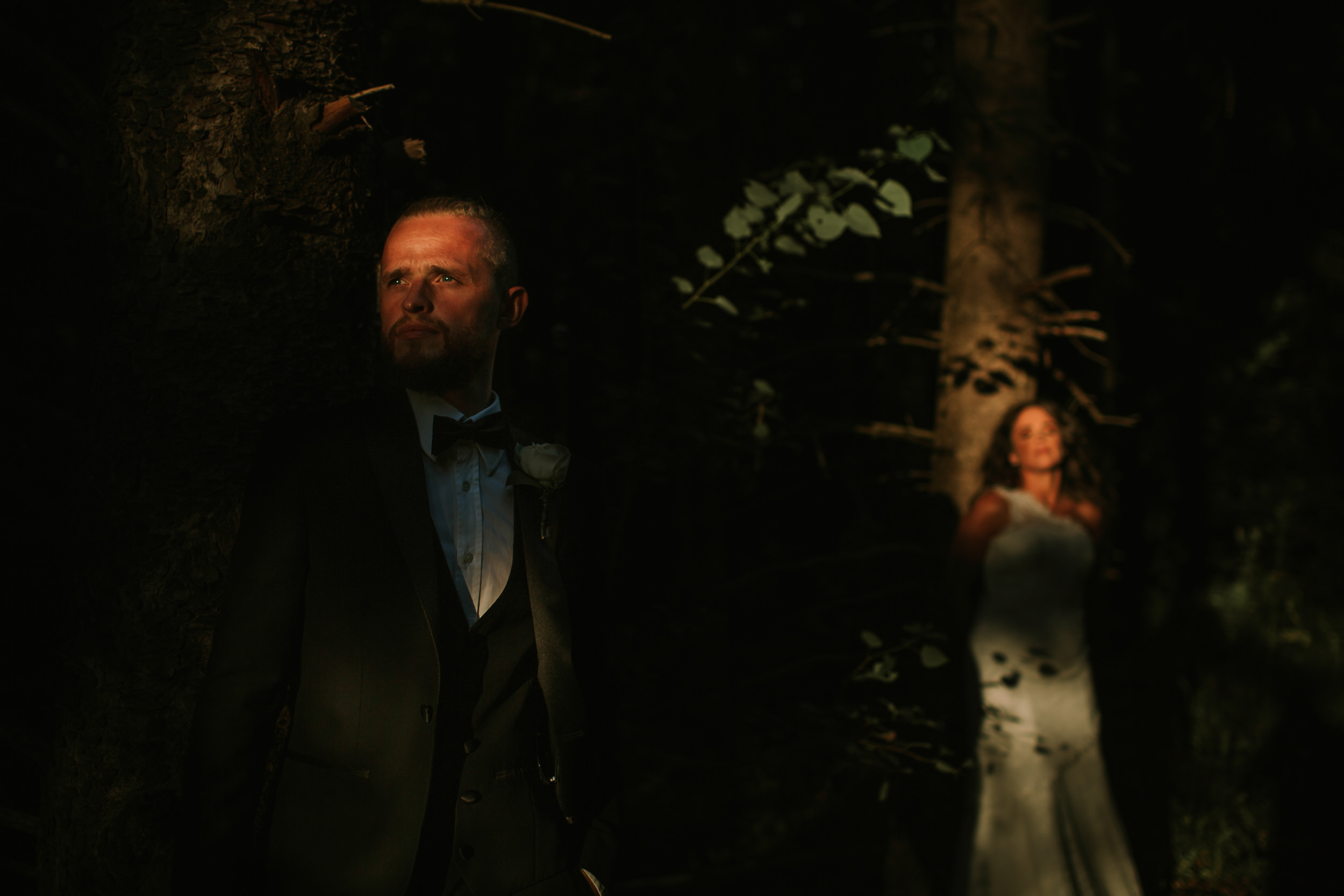shadowy wedding images - wedding in Toronto - wedding portraits