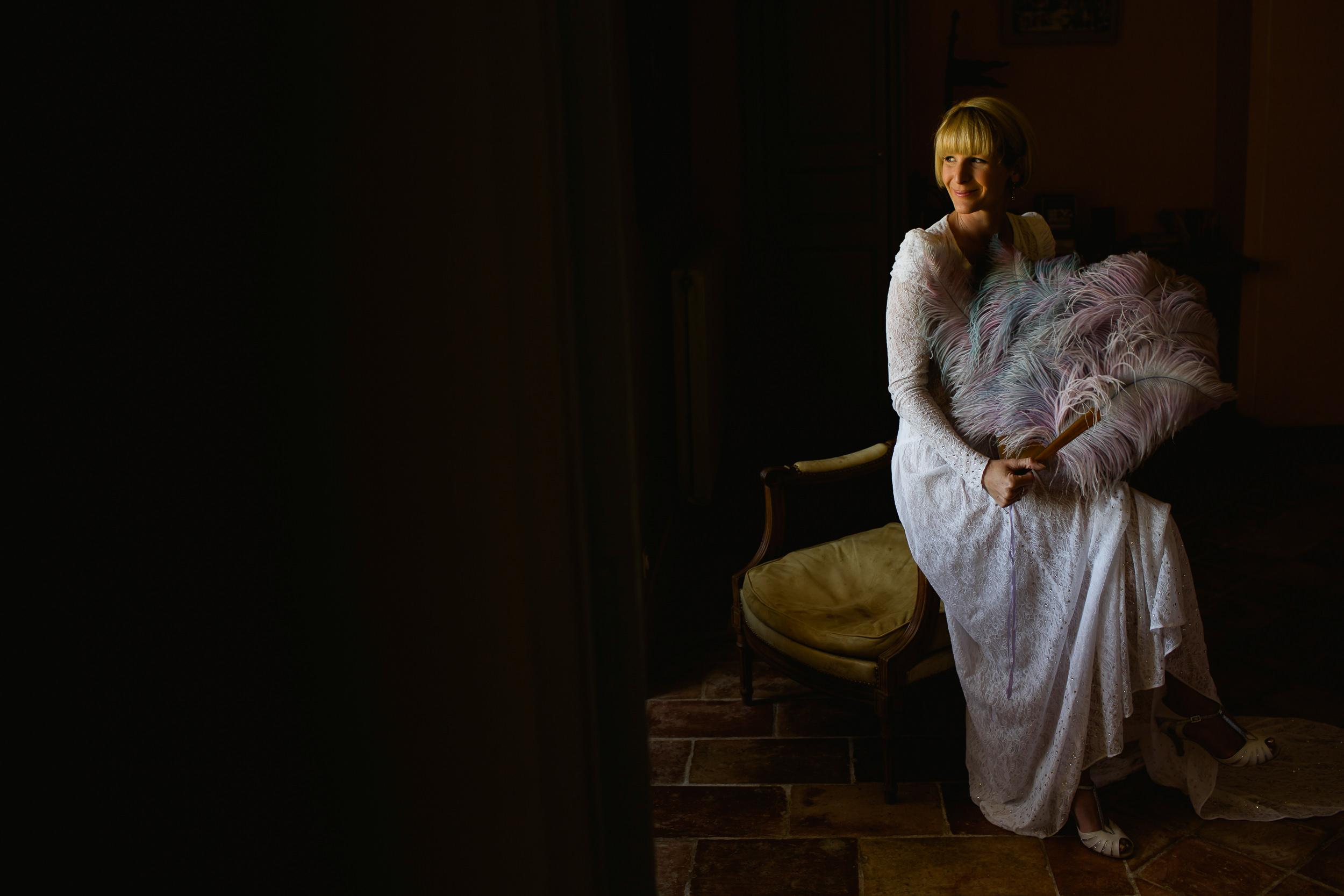 vintage bride - Vintage portraits - wedding at Castelnau Des Fieumarcon