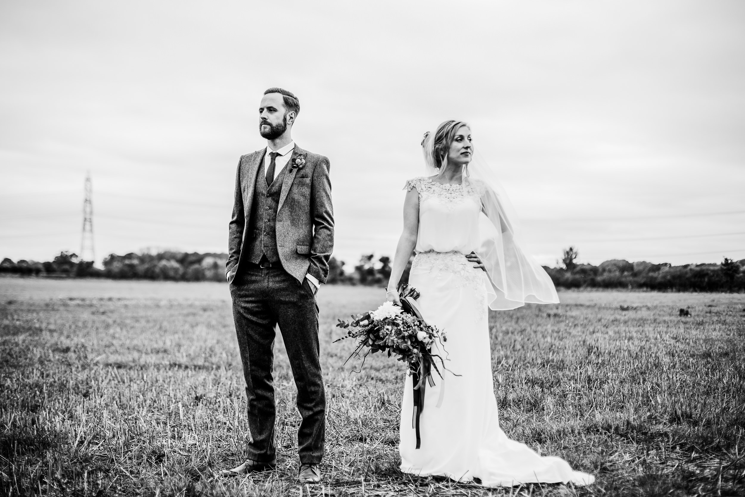 Alternative wedding portraits - weddings at shustoke barns - Birmingham wedding photography