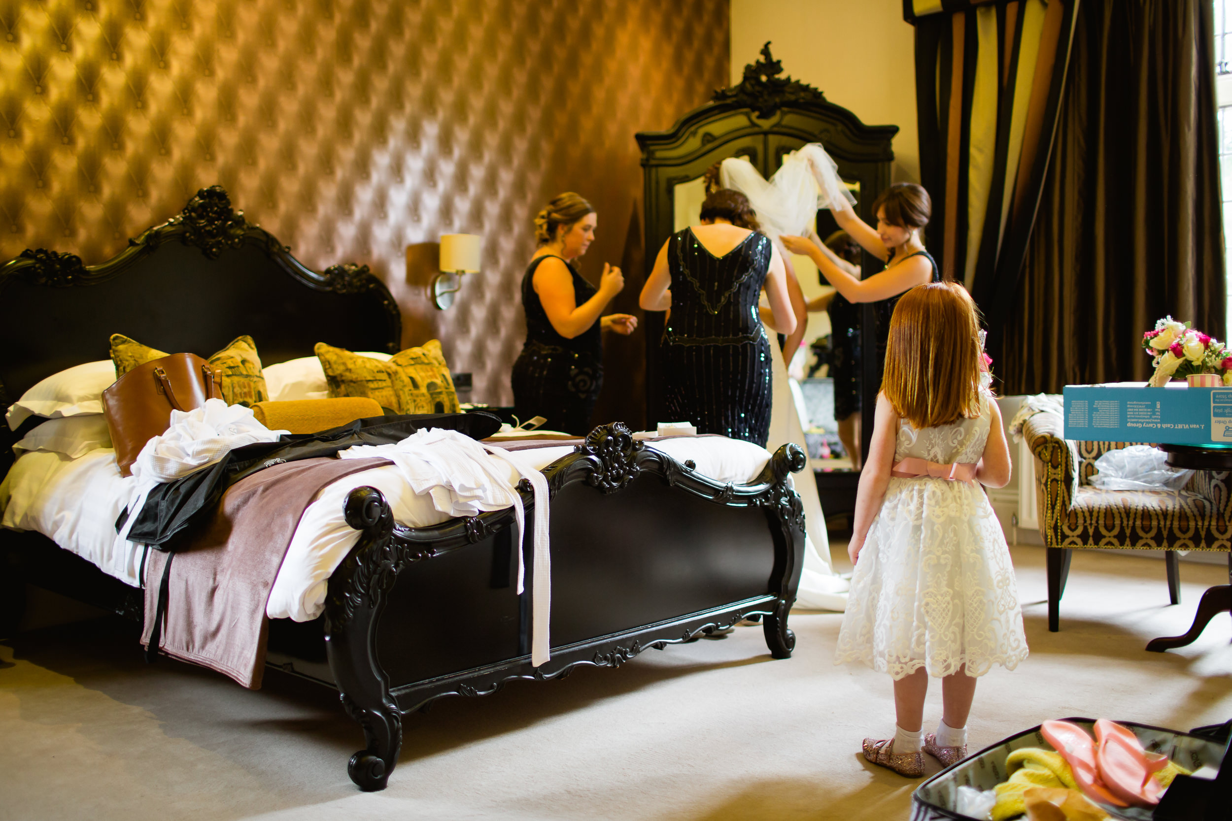 getting ready at Moxhulll Hall - Moxhull Hall wedding