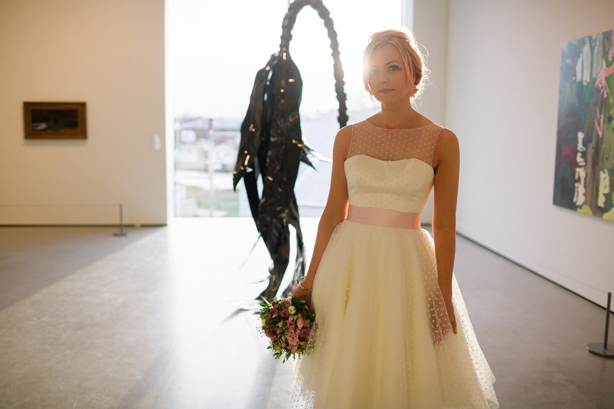 hepworth gallery bridal portrait