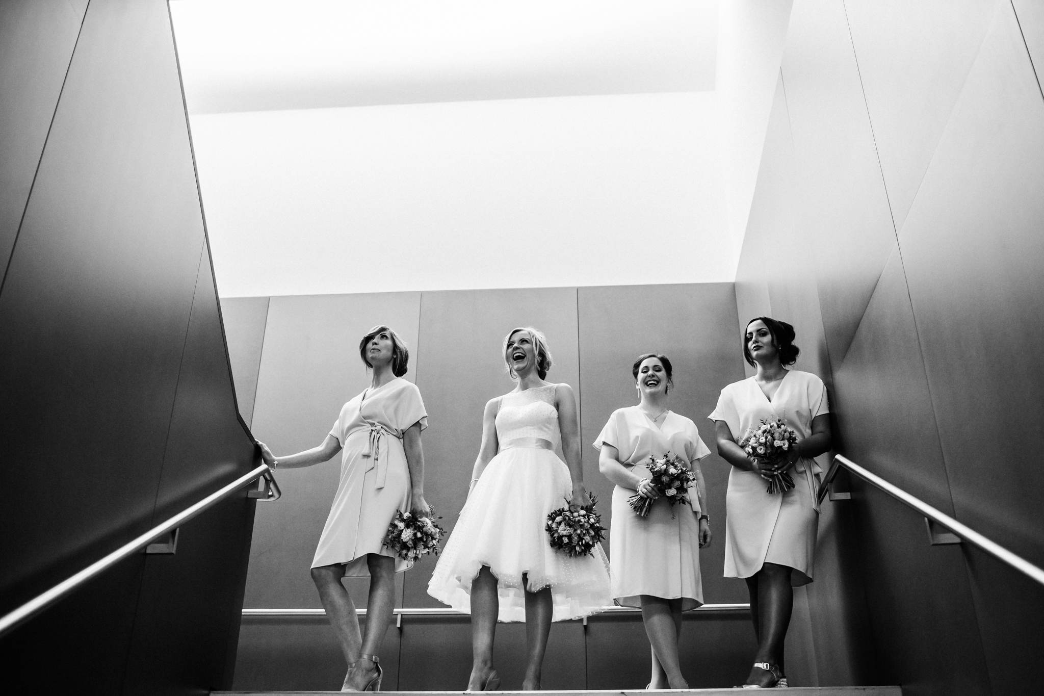 stylish brides party