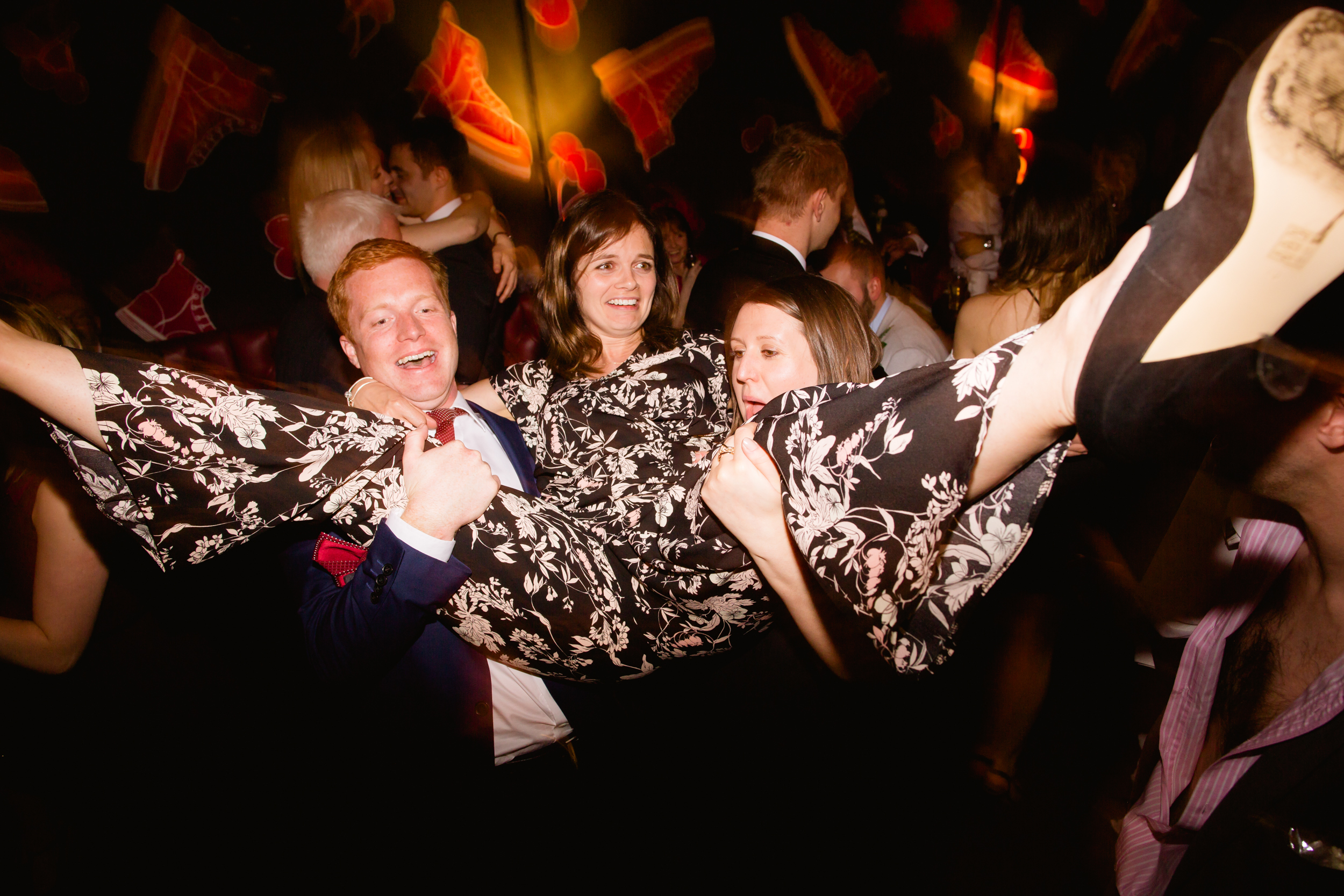 wedding guests dance at cherry reds