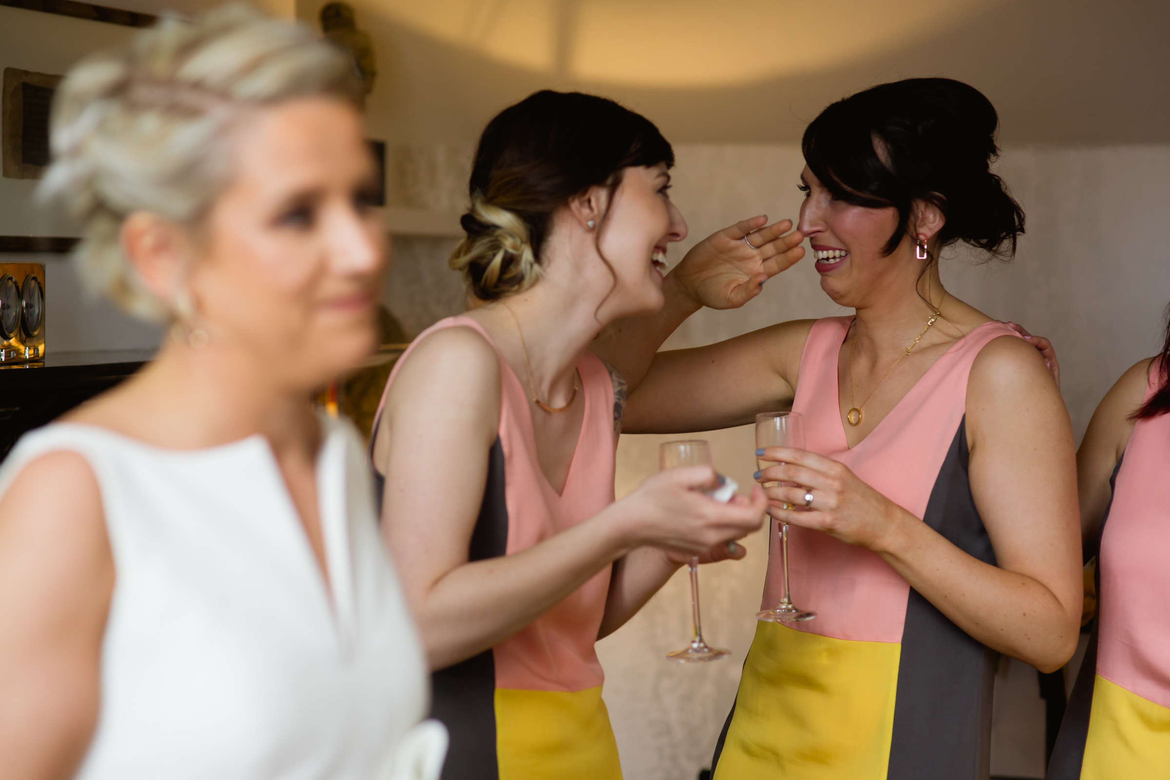 bridemaids crying at great john street hotel manchester