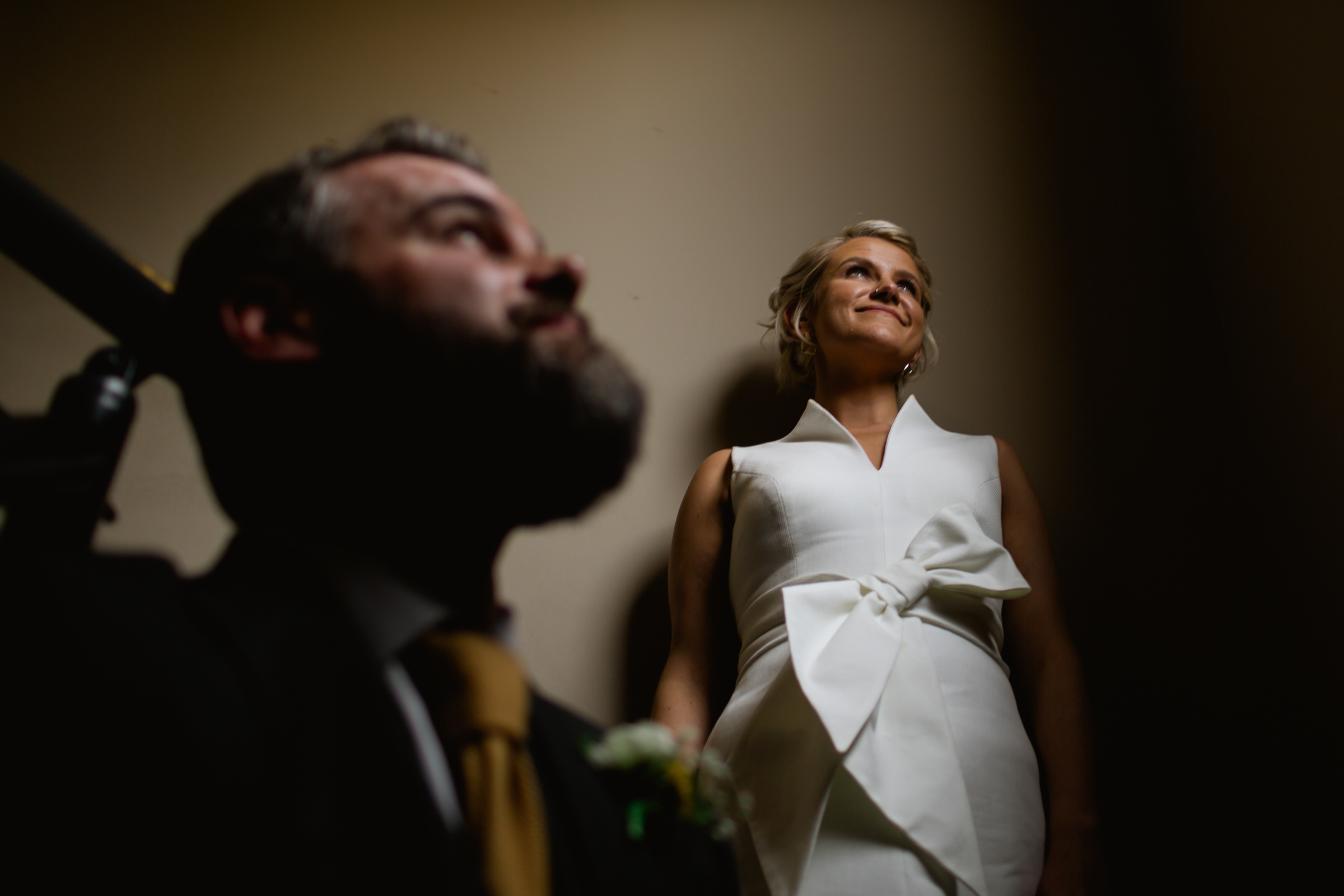 bride and groom portraits at great john street hotel manchester