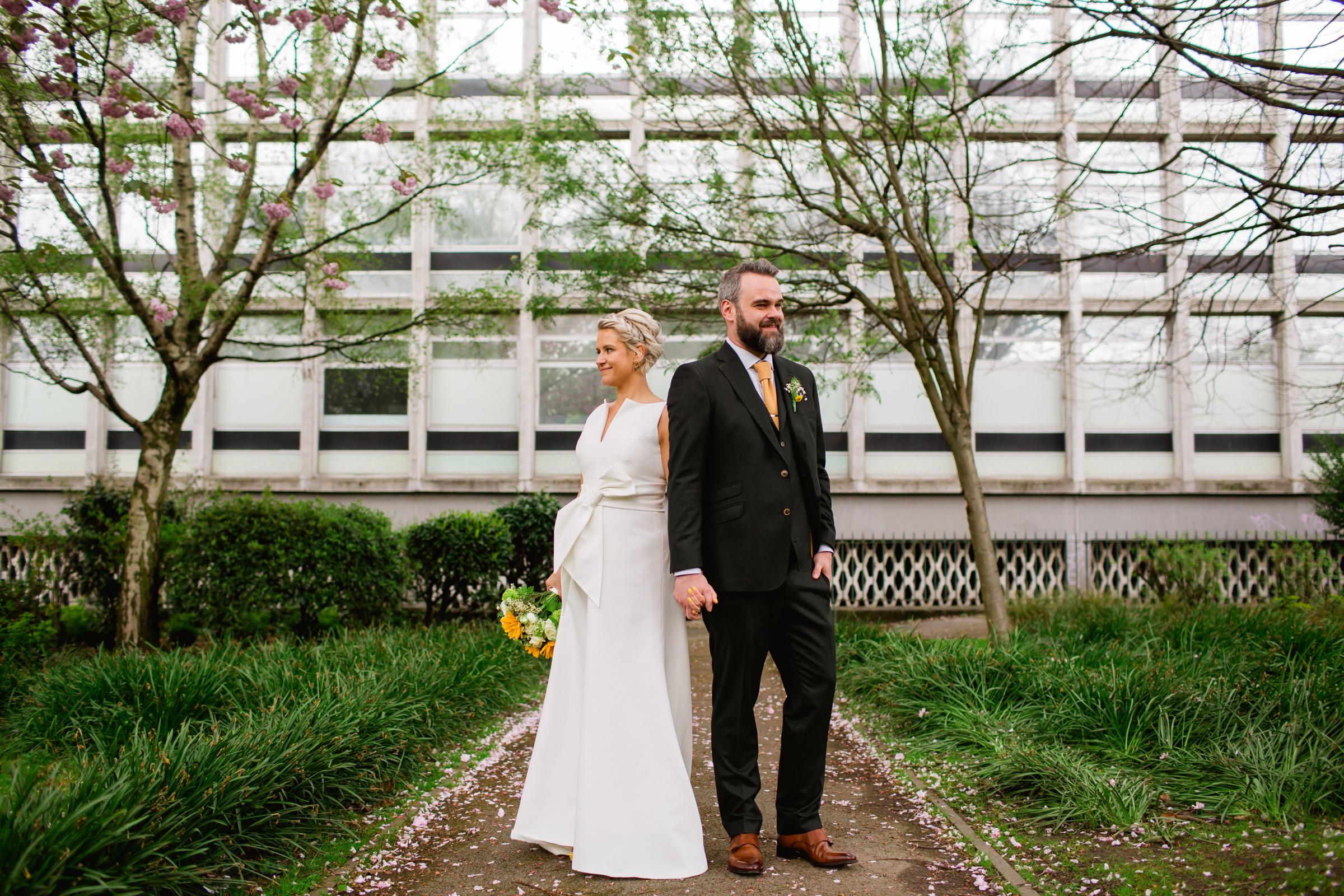 urban wedding portraits in manchester
