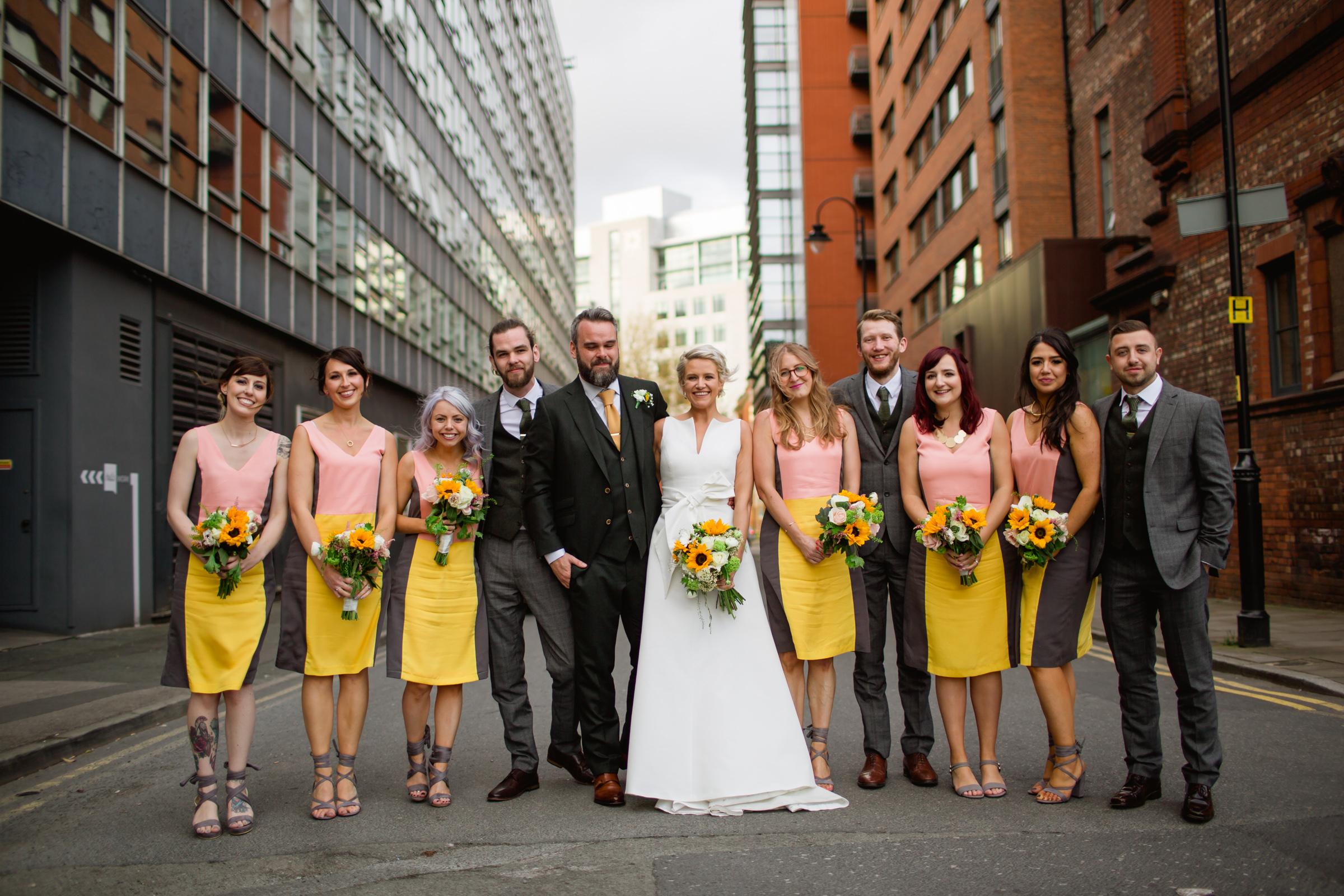 modern bridal portraits at great john street hotel manchester