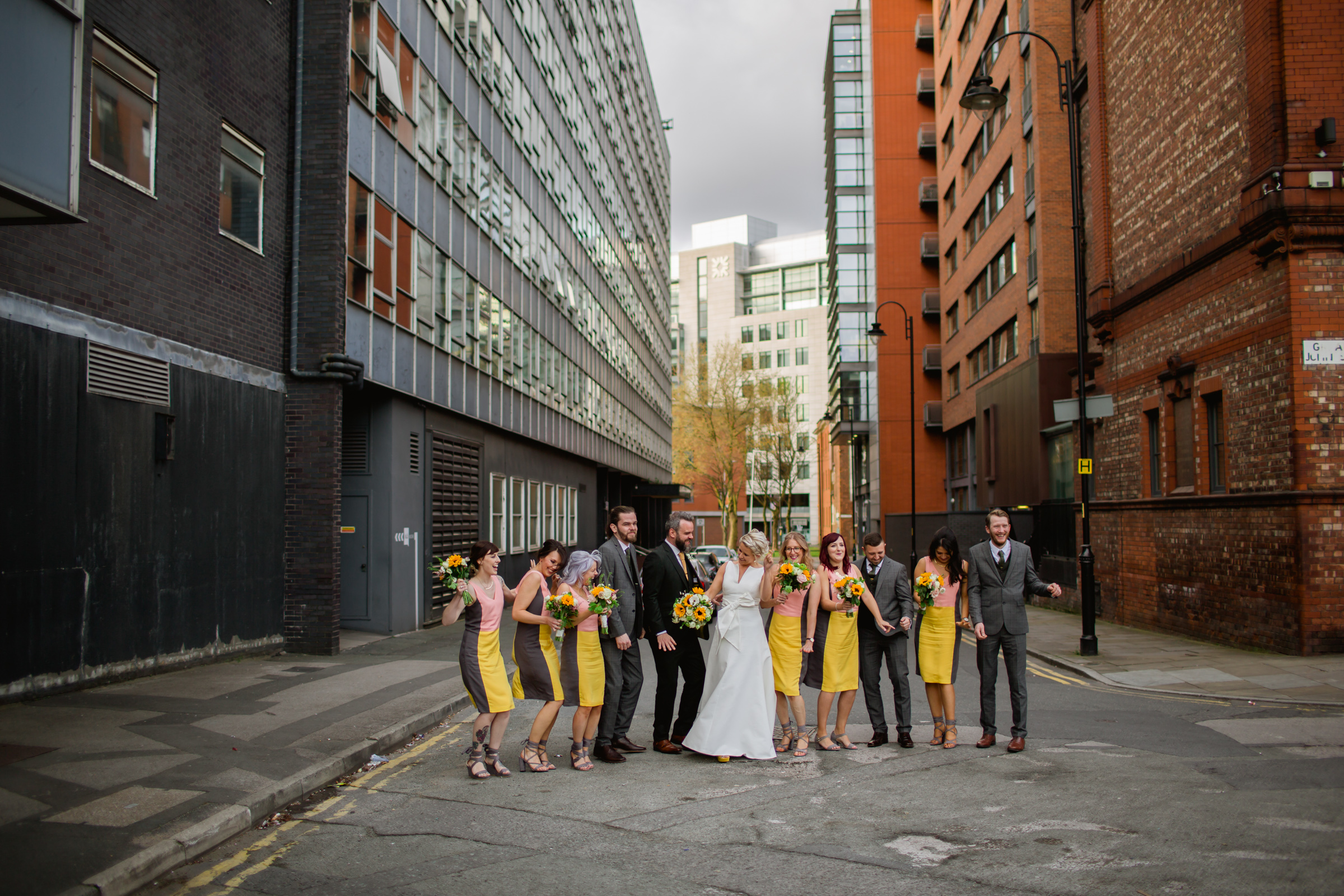 the bridal party at great john street hotel manchester