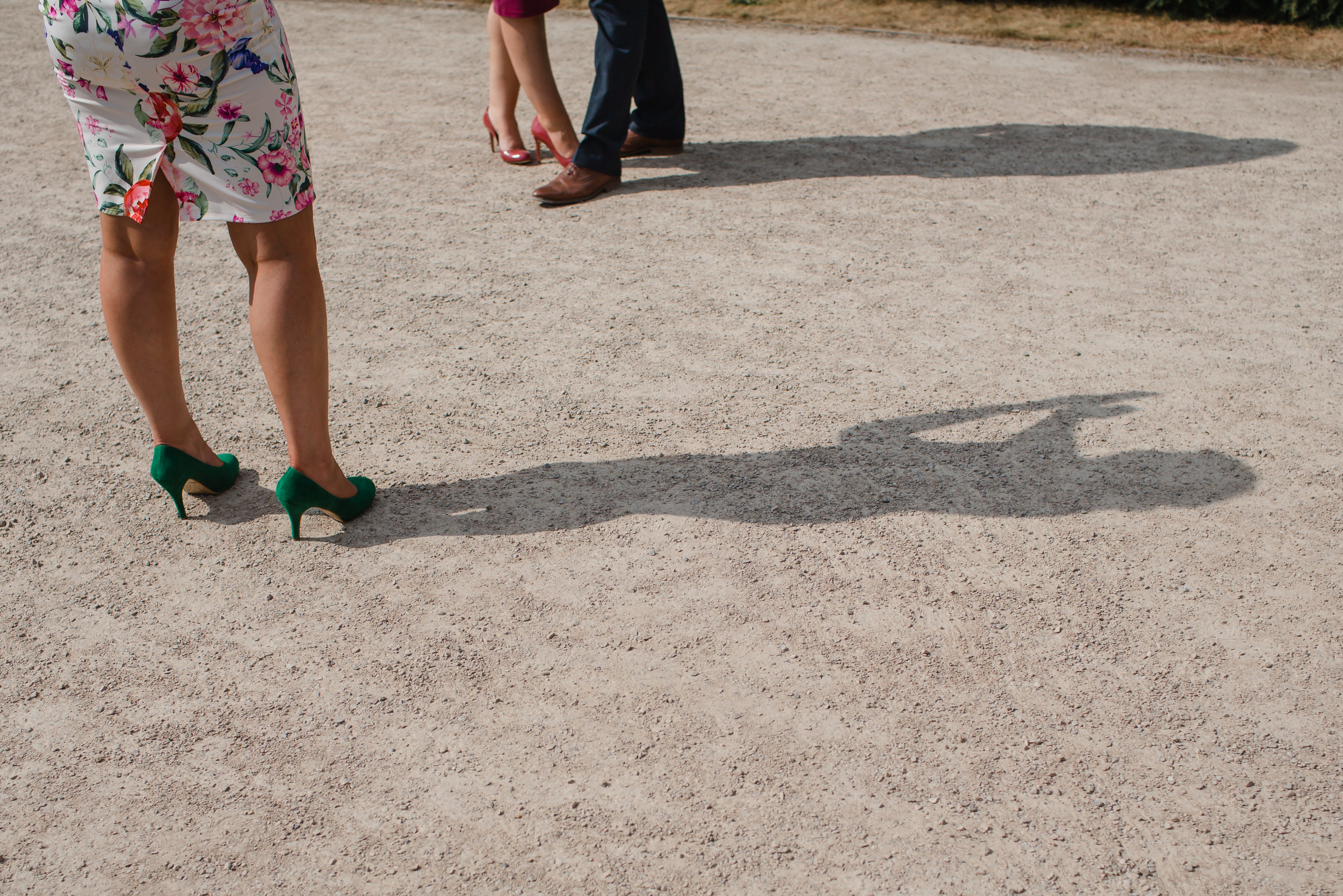 guests taking pictures at Yorkshire Sculpture Park