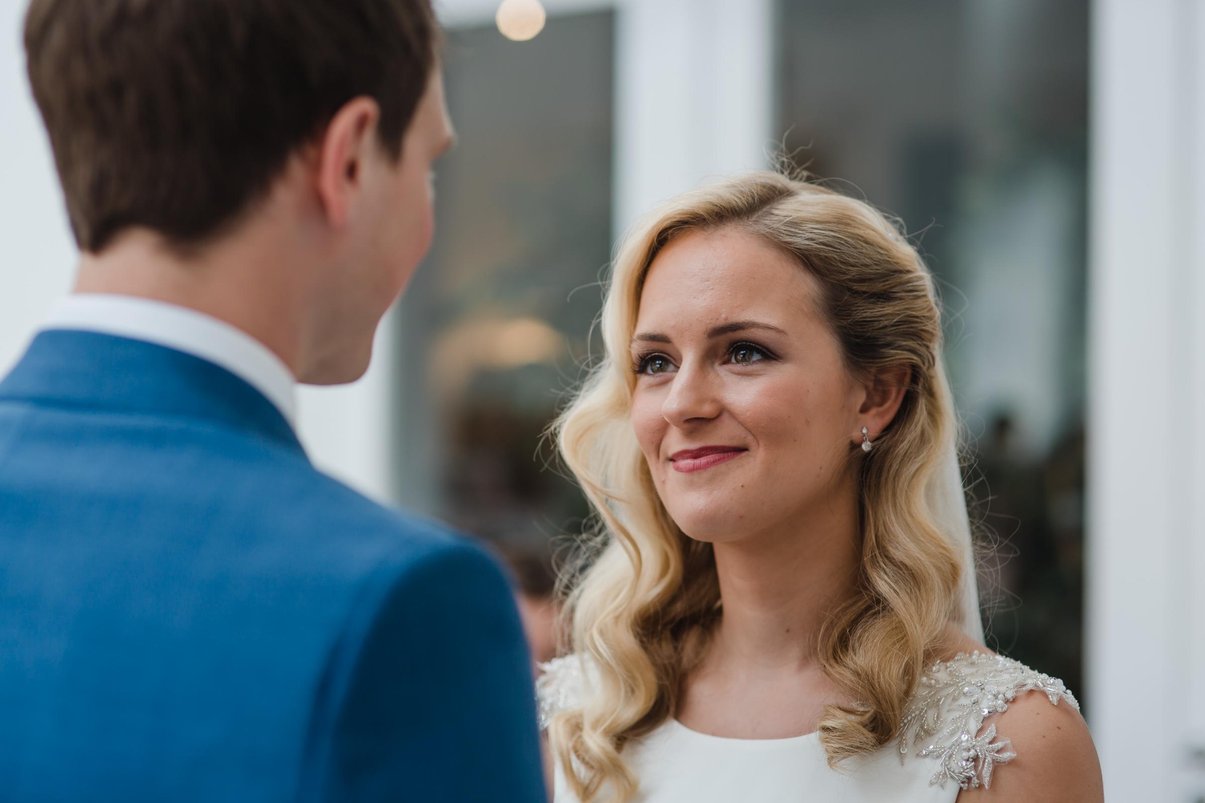 a bride and groom at fazeley studios