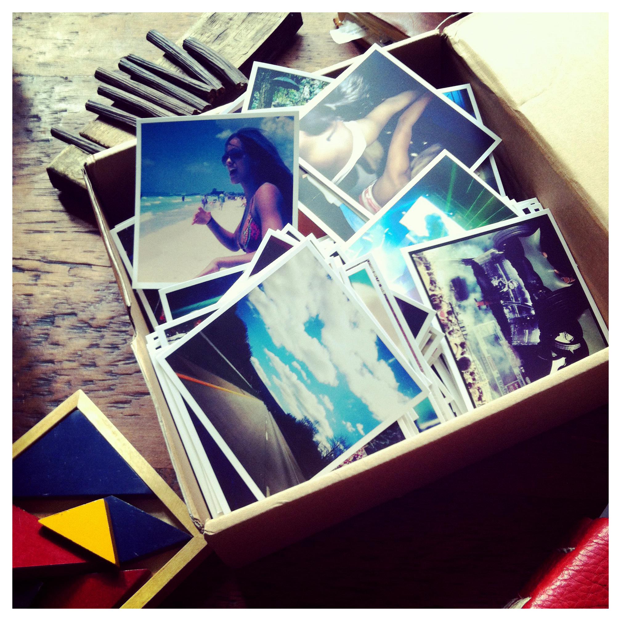 LIFE in a cardboard box.