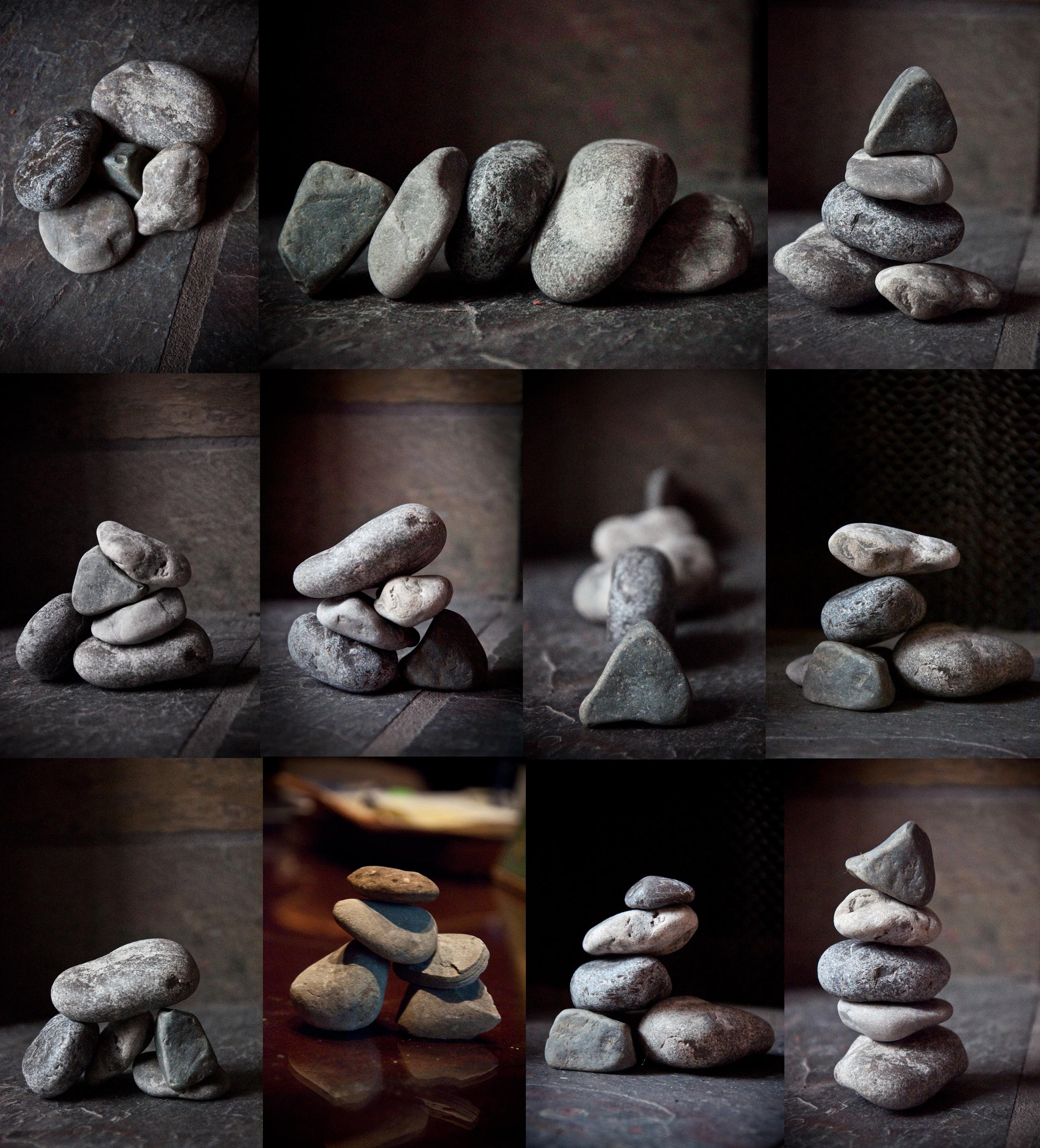 rock pile.