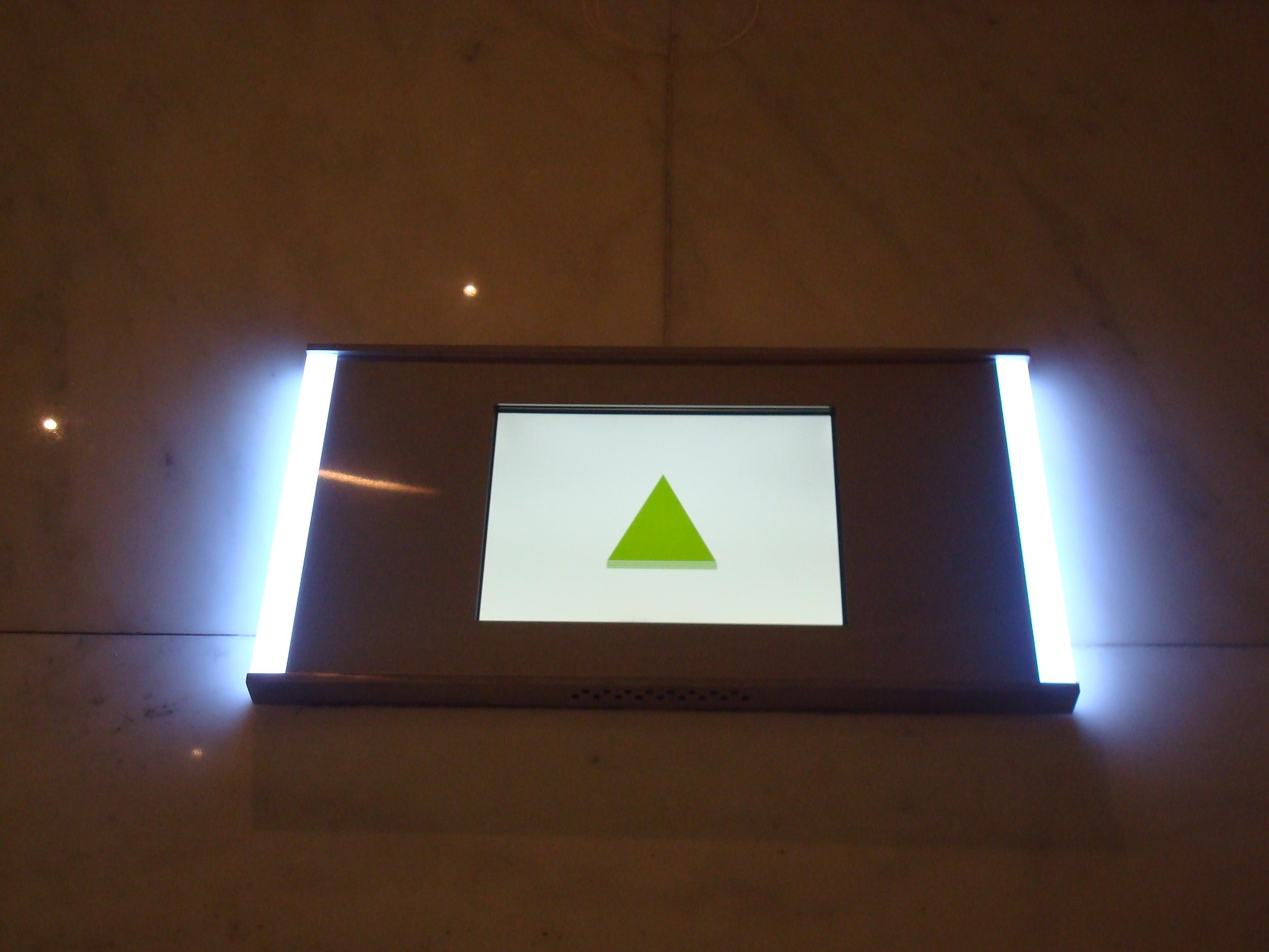 Hall Signal indicating the elevator is traveling upwards