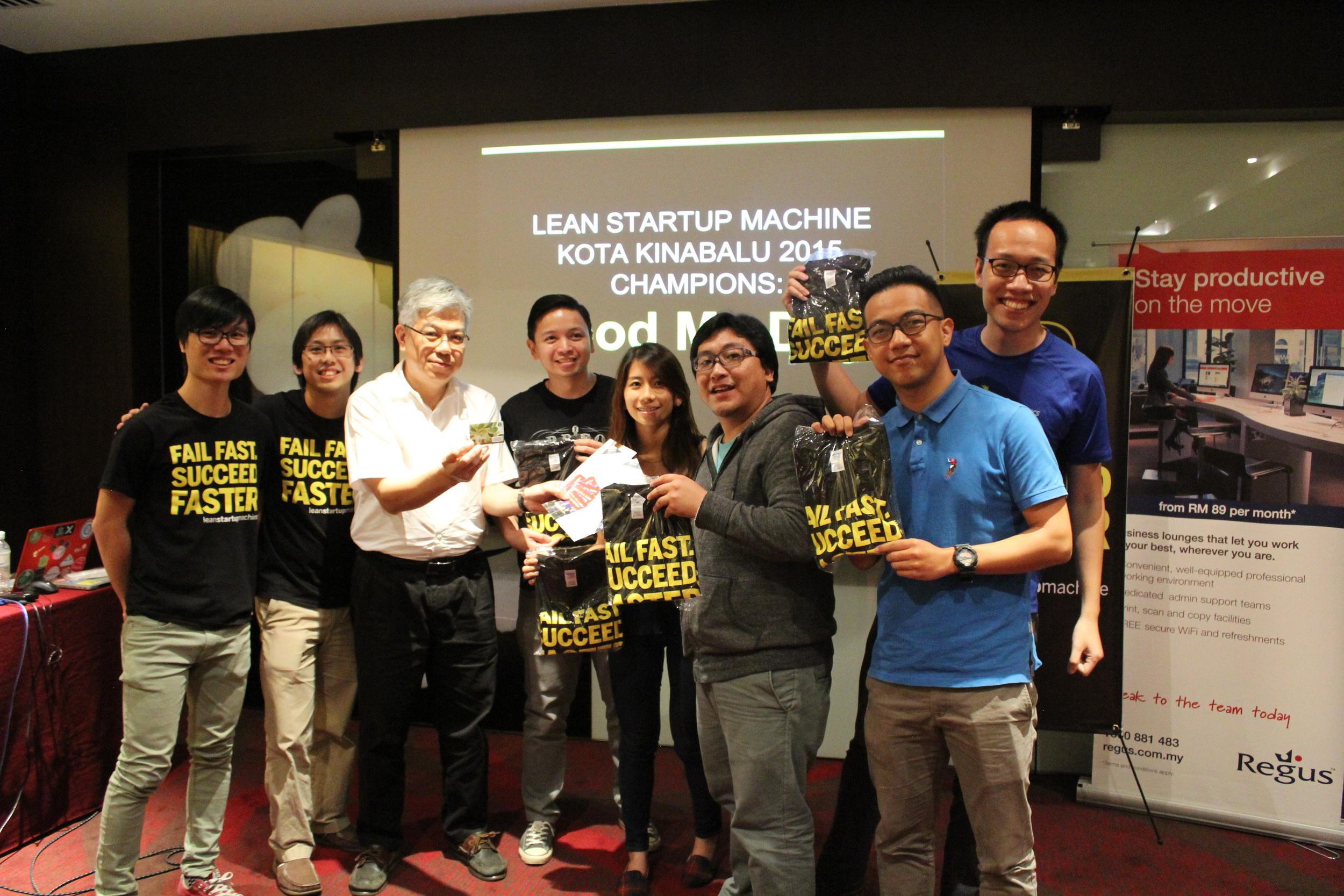 The winners of LSM KK - Food My Day Team