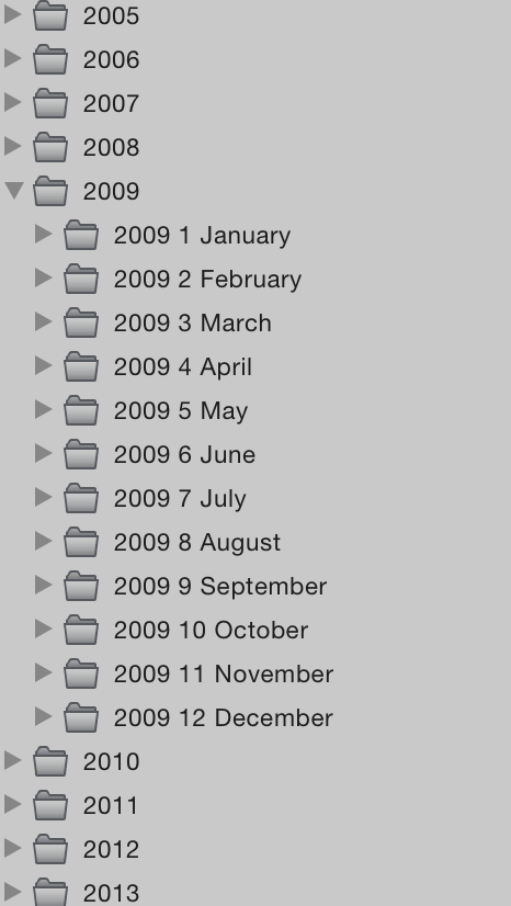 There's a lot of months in those years. And events in those months.