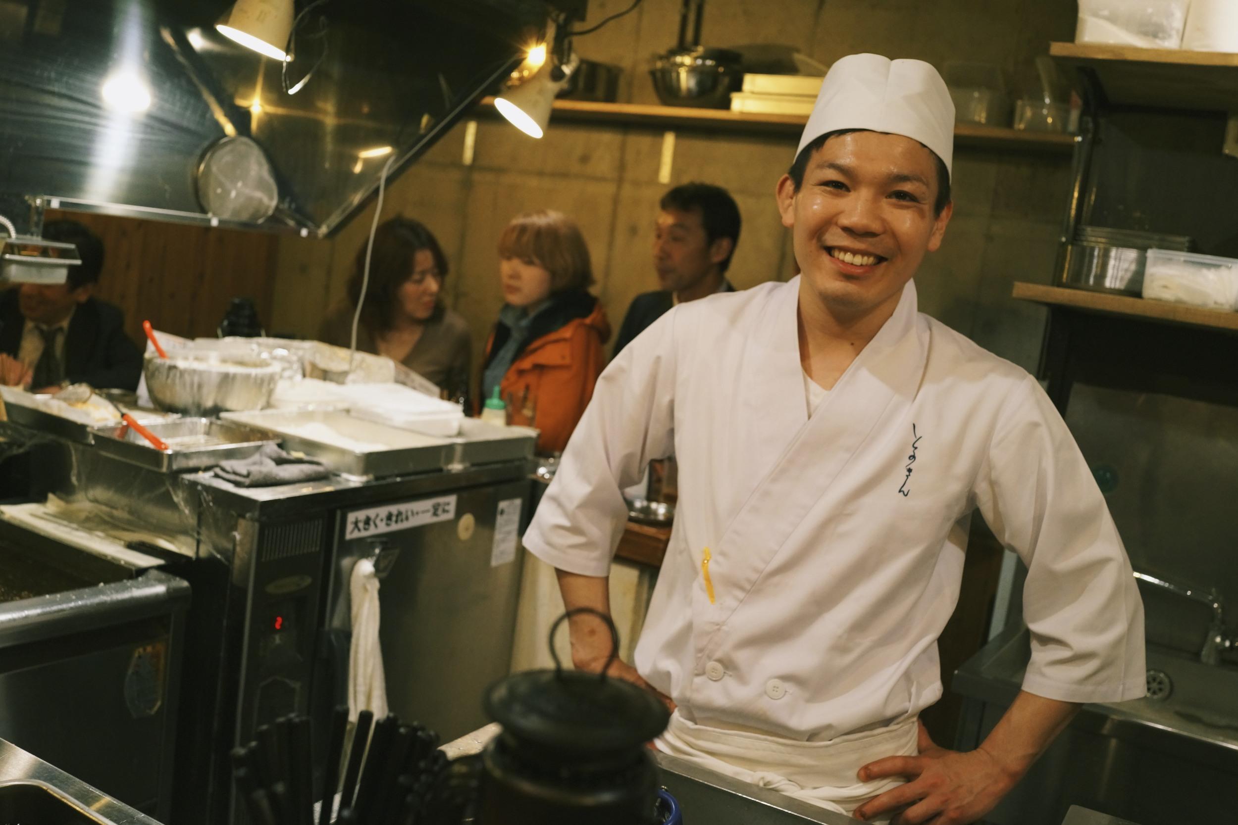 Best fried skewers place ever in Naka-Meguro, Tokyo, Japan